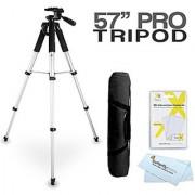 57 Camera/ Camcorder Tripod w/ Carrying Case For Nikon Coolpix P520 P7000 S8200 S6200 S8100 S8000 S6000 S1100pj S100 AW100 S1200pj P7100 P510 P610 L810 L820 L620 L330 L340 L830 L840 Digital Camera