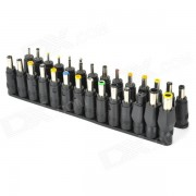 WB-002 Handy Multifunctional DC Power Connector Set for Laptop - Black (28 PCS)