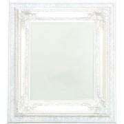 Wandspiegel, Badspiegel weiß mit Verzierung 94x84 cm