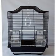 Max 203Bče Klec černá pro ptáky na papoušky 300 x 230 x 400 mm