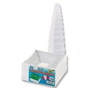 Folia 3100 - Scatole regalo in cartone, varie dimensioni, confezione da 12, colore: Bianco
