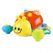 Lightahead Musical Crawling Ladybug A Sound & Light Toy for Children &Toddlers.Push & Go Ladybird
