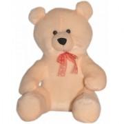 softeez peach teddy bear with tie 1.5 ft