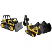 Tonka Toughs 2-Pack - Tough Bulldozer and Tough Trencher Backhoe