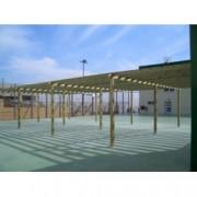 Pergola de madera autoportante modelo Llavaneres de 295x395 cm. , Porches de Madera