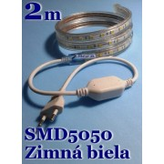 Ledstar kompletná sada 220V 2m SMD5050 60LEDm 14,8Wm Zimná biela IP67