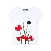 Conguitos Girl's Camiseta Flores Shirt
