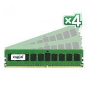 Crucial CT4K8G4RFS424A Memoria RAM da 8 GB, DDR4, 2400 MHz, ECC R, Kit 4 Pezzi, Blu