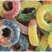 Barratt Fizzy Rings Fruit Flavour Gummy Sweets