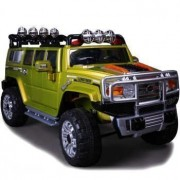 Rideonecar Hummer Style Jj 255A Ride On Car Battery Operated With Remote Control Green. Rideonecar