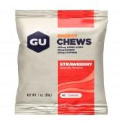 GU Energy Energy Chews Żywność energetyczna Strawberry 30g czerwony/srebrny Suplementy fitness