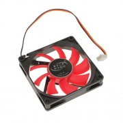 Segolike PC Case Cooling Fan Temperature Controlled Silent/Quiet 40.9CFM No LED Red