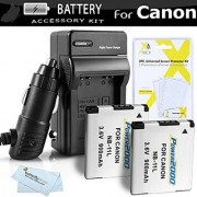 2 Pack Replacement NB-11L Battery And Charger Kit For Canon Powershot ELPH 180 ELPH 190 IS ELPH 150 IS 170 IS ELPH 340 HS SX400 IS ELPH 160 SX410 IS SX420 IS ELPH 350 HS ELPH 360 HS Digital Camera