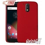 Unistuff™ Matte Finish Hard Shell Ultra Thin Bumper Back Case Cover for Motorola Moto G 4th Gen / Moto G4 / Moto G Plus, 4th Gen / Moto G4 Plus (Red)