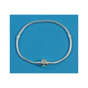 Pandora style solid silver bracelet