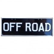 """Novelty Number Plate - Off Road White On Black"""