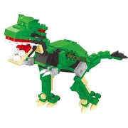 Sleek Green Dinosaur 160pcs Building Blocks Toy Play Set A Friendly Dino With Moving Parts Compatible To Lego Parts Great Gift For Children