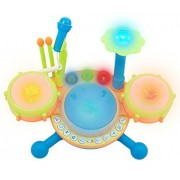 Techege Toys Learnn Play Dynamic Drumset Makes Real Drum Sounds, Fun Playing Modes, Play Along Or Make Your Own Song, My First Drum Set, Beginner Drum Set, Great Educational Musical Instrument