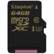 Card de memorie Kingston SDCG/64GBSP, microSDXC, 64 GB, Clasa 10, Viteza citire 90 MB/s, Viteza scriere 45 MB/s