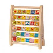Jucarie eco din lemn Alfabet Abacus Hape
