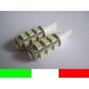 COPPIA LAMPADINE LED TUTTOVETRO BIANCO 6000K T10 W5W C2