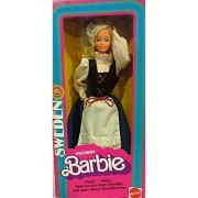 1982 Dolls of the World Swedish Sweden Barbie Doll #4032 by Mattel