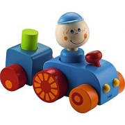 HABAtown Wooden Tractor with Driver for Ages 12 Months and Up