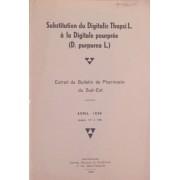 Substitution Du Digitalis Thapsi L. A La Digitale Pourpree (D. Purpurea L.)