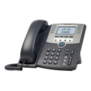 Cisco Small Business SPA 509G - Téléphone VoIP - SIP, SIP v2, SPCP - multiligne - argenté(e), gris foncé - pour Small Business Pro Unified Communications 320 with 4 FXO