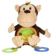 Animal Planet - Sonaglio per dentizione da passeggino a forma di animale, Marrone (Monkey)