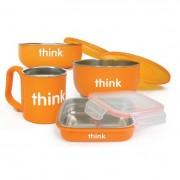 Thinkbaby Feeding Set - BPA Free - Orange