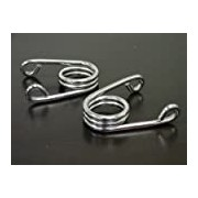 """(US) 2"""" Chrome Custom Torsion Type Solo Seat Springs for Harley Chopper Bobber Cafe Triumph BAS Xs Old School(pair)"""