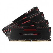 Memorie Corsair Vengeance LED 32GB (4x8GB) DDR4, 2666MHz, 1.2V, CL16, Dual Channel Quad Kit, Red LED, CMU32GX4M4A2666C16R