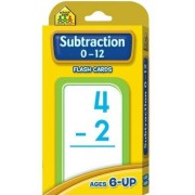 School Zone Subtraction 0-12 Flash Cards Rounded Corners Easy Sorting Practical