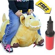 WALIKI TOYS Bouncy Horse Inflatable Plush Stuffed Jurassic Dinosaur: Bounce on the Park