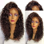 rosegal Deep Side Part Long Shaggy Curly Lace Front Synthetic Wig