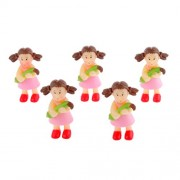 Imported 5x Miniature Dollouse Fairy Garden Landscape Bonsai Decor Girl with Corn