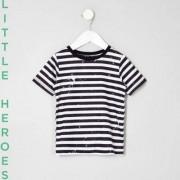 River Island Mini boys Black stripe paint T-shirt