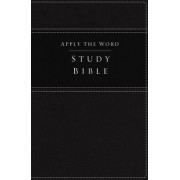 NKJV, Apply the Word Study Bible, Imitation Leather, Black, Red Letter Edition by Thomas Nelson