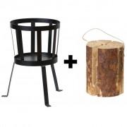 2L Home and Garden fakkelstandaard met 1 GRATIS Zweedse fakkel