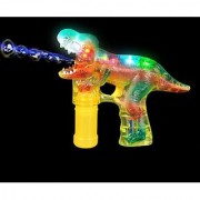 T-REX Led Bubble Blower Gun Sound Bubble Saurus Dinosaur Raucous Sounds