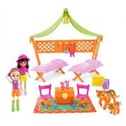 Mattel Polly Pocket DJB25 - muñecas de moda, Safari Adventure Playset