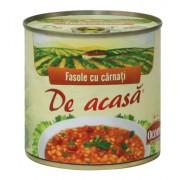 Fasole cu Carnati Afumati Cutie 400ml
