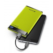 Външна тънка батерия Manta 6000 mAh (зелена)
