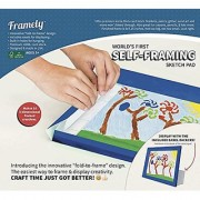 Worlds First Self-Framing Sketch Pad. Ultra Premium Extra Thick Card-Stock Sheets That Won't Bleed Through. Makes 10 Durable 3-Dimensional Artwork Frames with Wall Mounts and Easels.