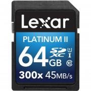 Lexar Platinum II 300x SDXC 64GB UHS-I/U1 (Up To 45MB/s Read) Flash Memory Card LSD64GBBNL3002 - 2 Pack