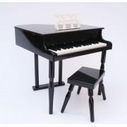 Piano À Queue Noir Pour Enfant Avec Tabouret