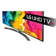 "LG 43UH661V LED TV 43"" Ultra HD, WebOS 3.0 SMART, T2, Metal/Titan, Crescent stand"