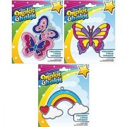 Suncatcher Kits - Butterflies Large Butterfly Rainbow with Clouds - by Makit & Bakit / Colorbok - stained glass art pr