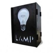 Luminária de Mesa Caixa Lâmpada